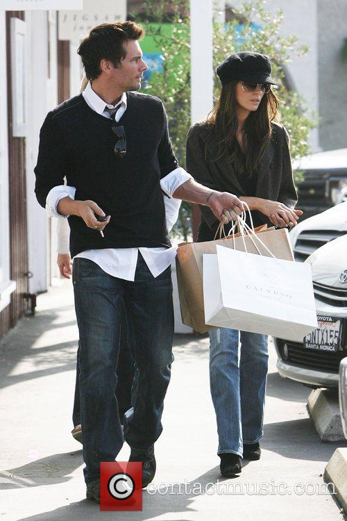 Kate Beckinsale out shopping with husband Len Wiseman...