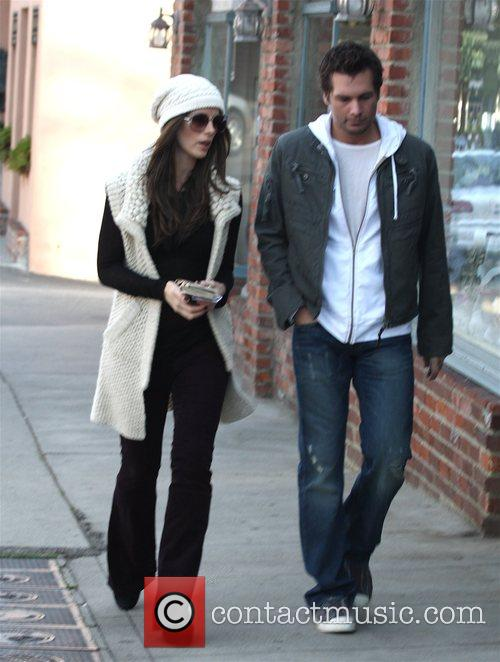 Len Wiseman and Kate Beckinsale shopping in Brentwood...