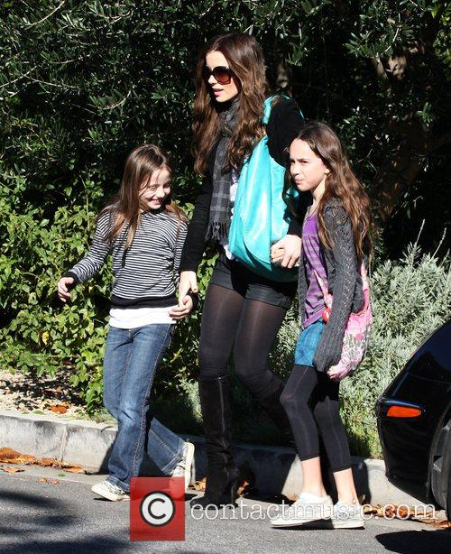 Kate Beckinsale goes for a walk with her...