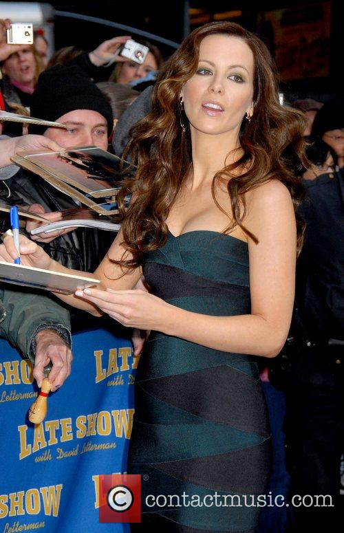 Kate Beckinsale and David Letterman 9