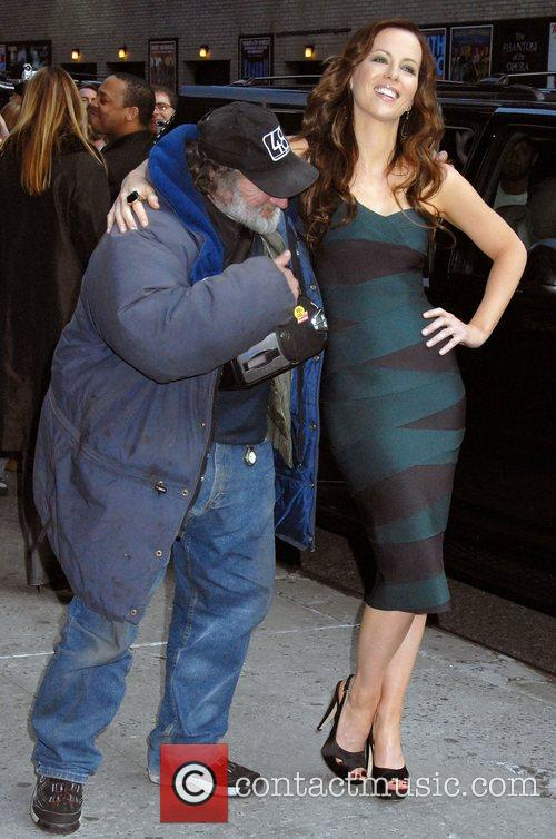 Kate Beckinsale and David Letterman 8