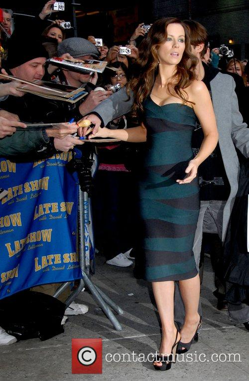 Kate Beckinsale outside Ed Sullivan Theatre for the...