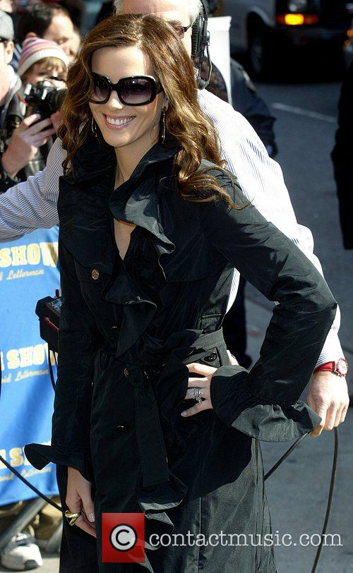 Kate Beckinsale and David Letterman 13