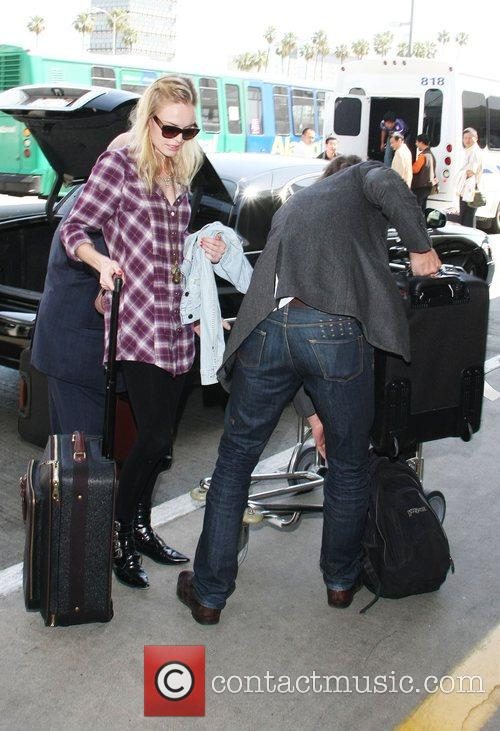 The '21' star arriving at LAX airport