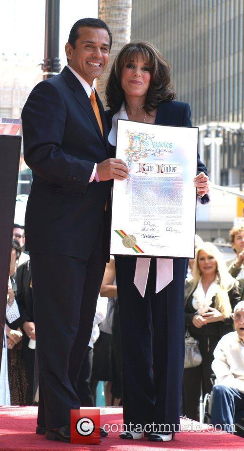 Mayor Antonio Villaraigosa and kate Linder Kate Linder...