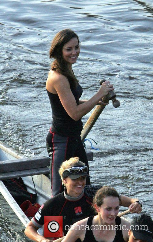 Kate Middleton  training early this morning with...