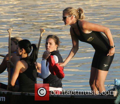 Kate Middleton training with the Sisterhood team who...