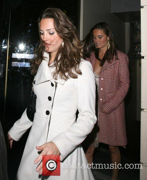 Kate Middleton, Her Sister Pippa Leaving Kitts Nightclub and On Her 26th Birthday. 4