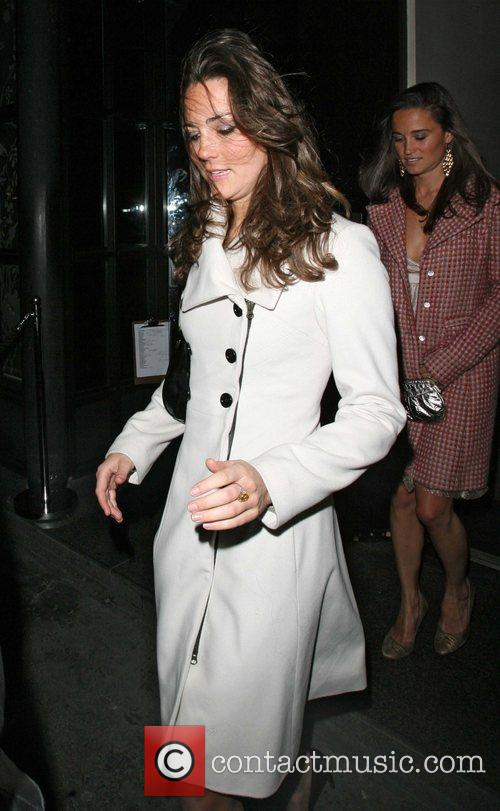 Kate Middleton and her sister Pippa leaving Kitts nightclub, on her 26th birthday. Kitts Nightclub