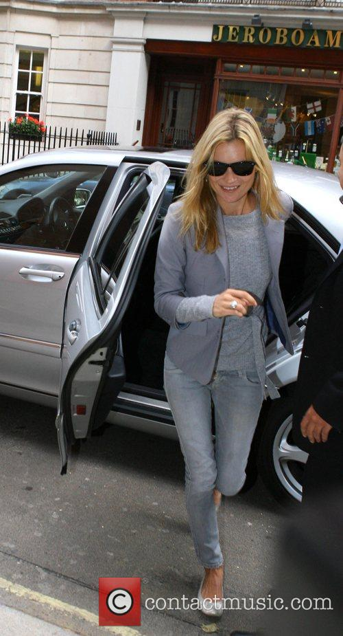 Kate Moss arriving at the restaurant Cipriani for...