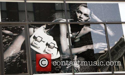 Kate Moss Longchamp billboard advertisement in Soho