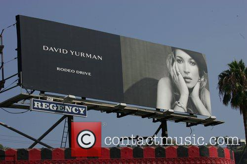 Kate Moss poses for a David Yurman advertisement...