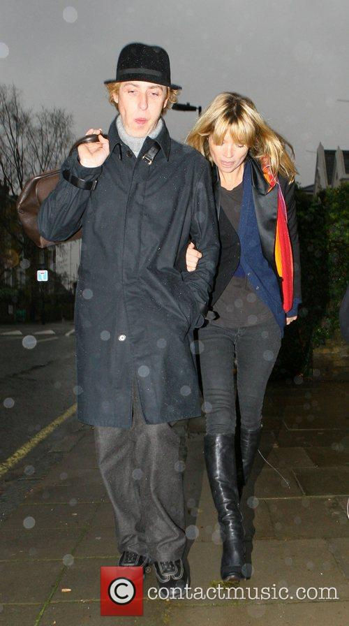 Hairdresser James Brown and Kate Moss  on...