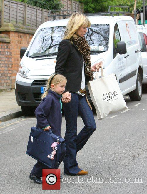 Kate Moss  picks up her daughter Lila...