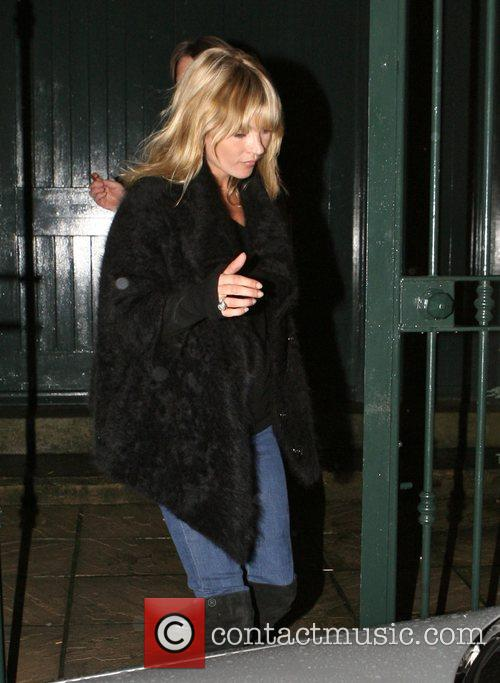 Kate Moss leaving a north London studio after...