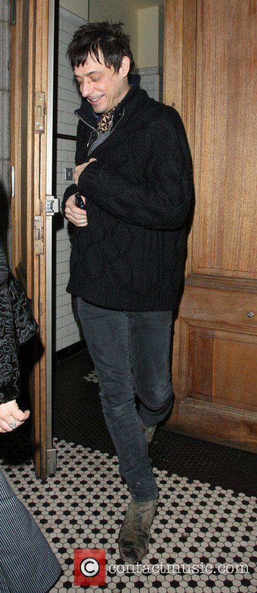 Jamie Hince leaving Automat restaurant London, England