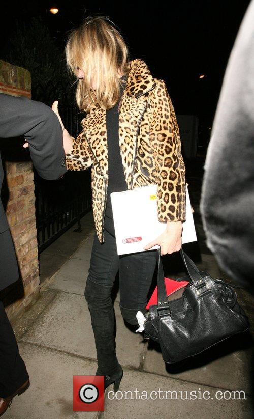 Kate Moss arriving home after dining at Automat...