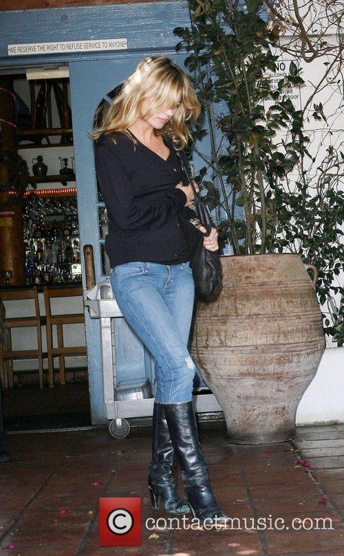 Kate Moss at the Taverna Tony Restaurant in...
