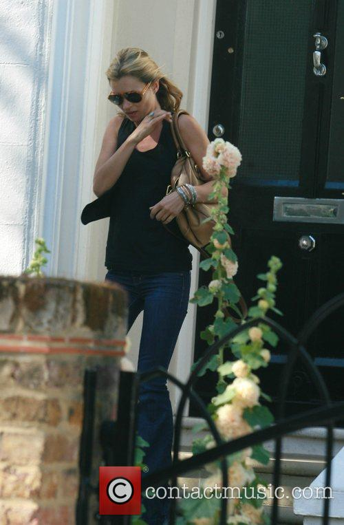Kate Moss  leaving Davinia Taylor's house to...