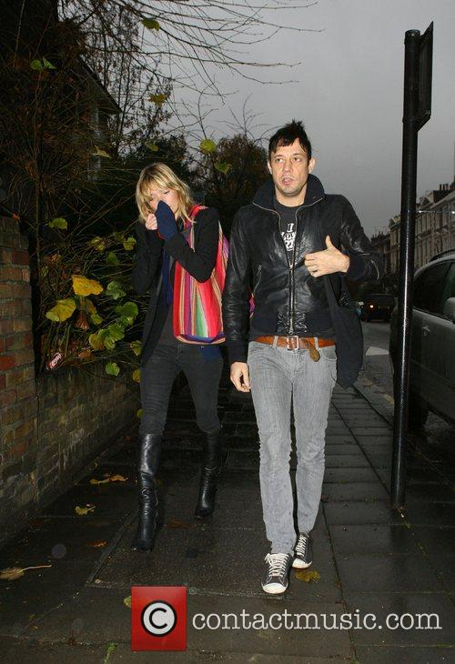 Kate Moss and Jamie Hince return home after...