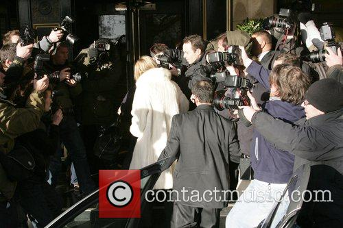 Kate Moss and Jamie Hince arriving at The...