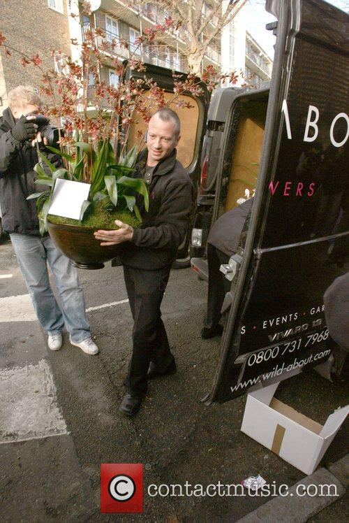 Flowers are delivered to Kate Moss' new house...
