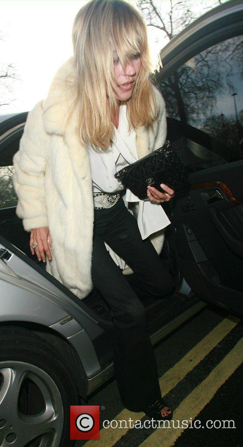 Kate Moss arriving The Dorchester for her birthday...