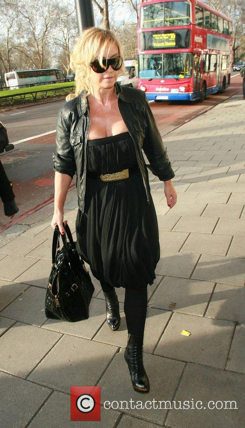 Meg Matthews arriving at The Dorchester for Kate...