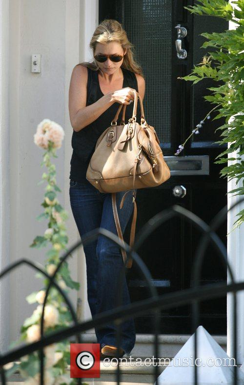 Kate Moss leaves the home of her friend...