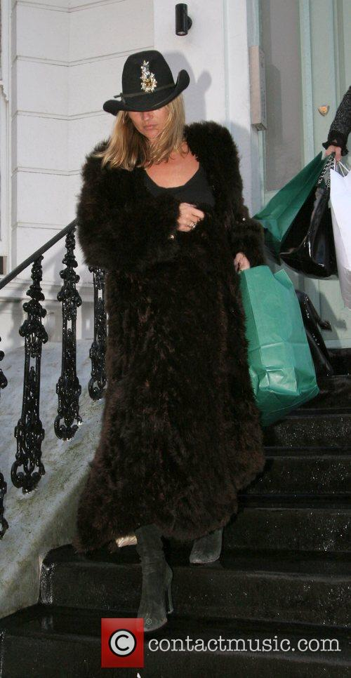 Kate Moss Leaving a friend's house wearing a...