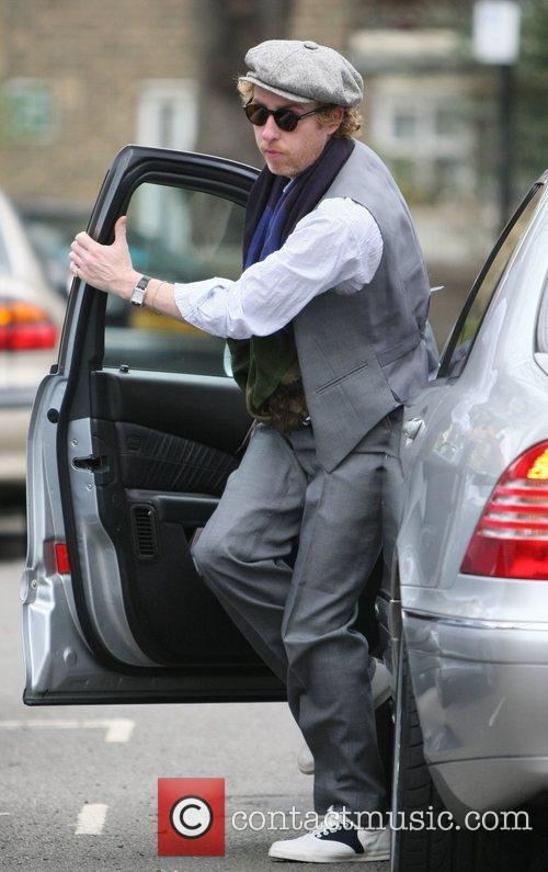 James Brown leaving Kate Moss's house to go...