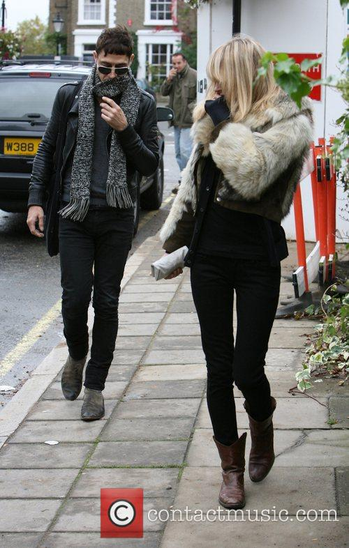 Kate Moss and Jamie Hince on their way...