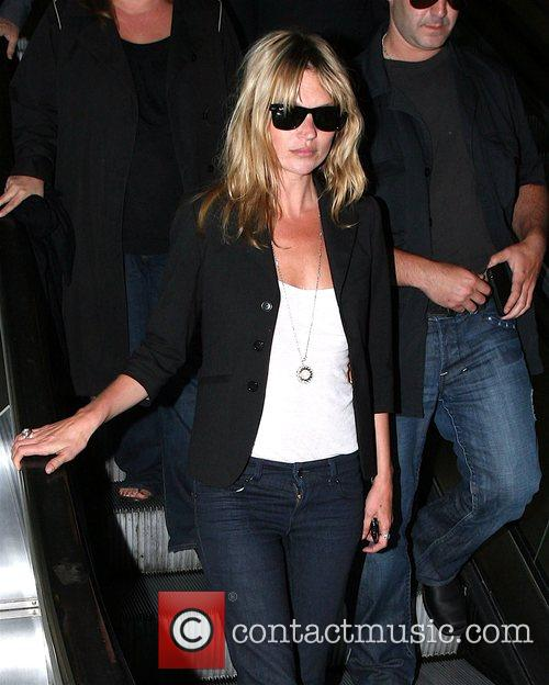 Kate Moss arrives at LAX airport on a...