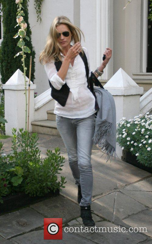 Kate Moss leaving a friends house to go...