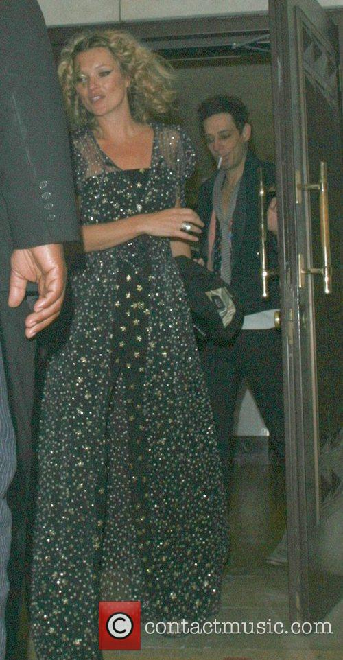 Kate Moss leaving the Dorchester to go to...