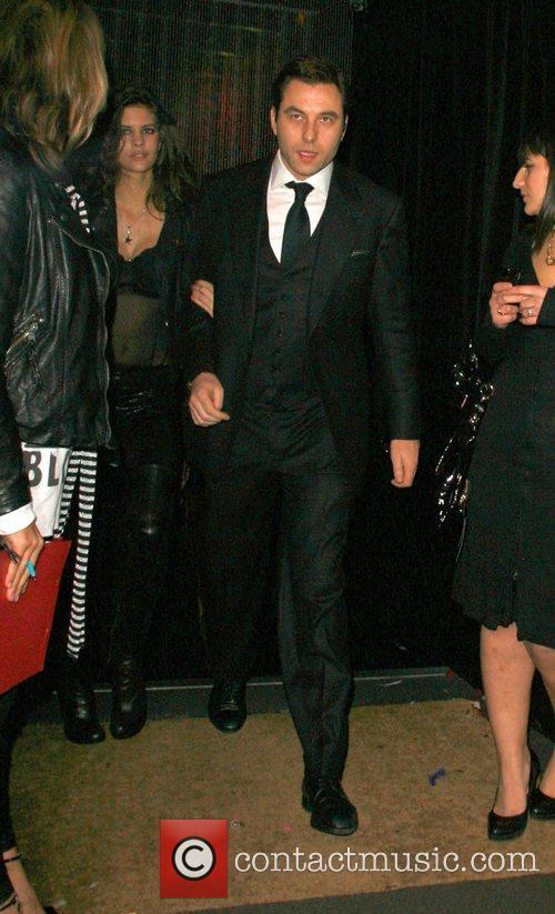 David Walliams leaving Punk nightclub after celebrating at...