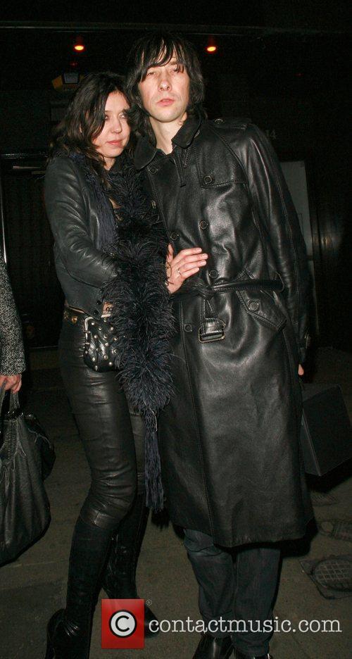 Bobbie Gillespie of Primal scream leaving Punk nightclub...