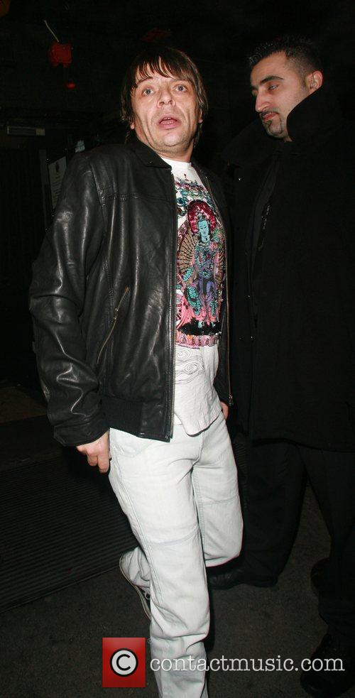 Gary Manfield aka Mani of Primal Scream leaving...