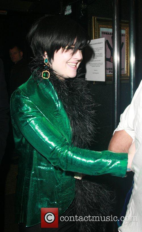 Kelly Osbourne leaving Punk nightclub after celebrating at...