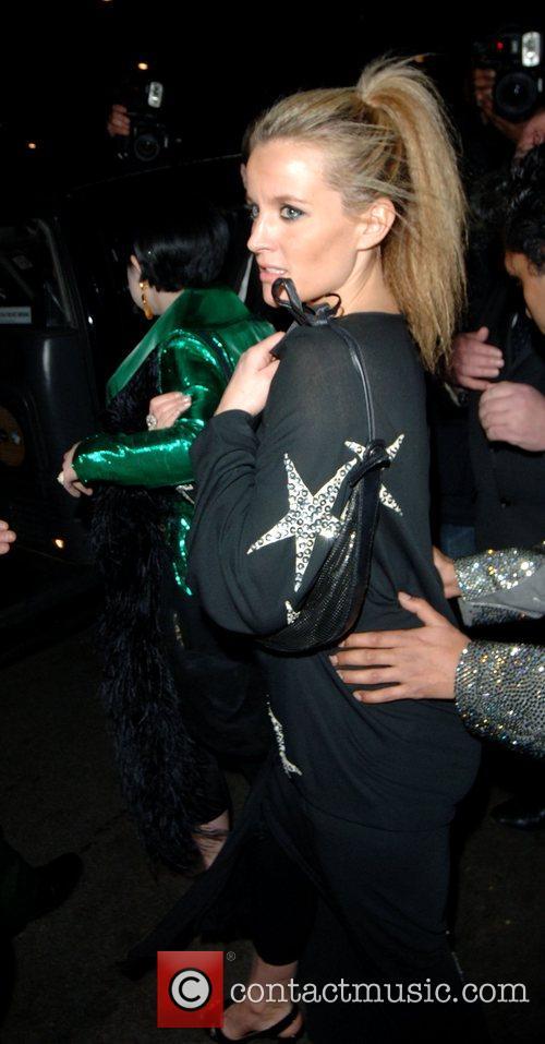 Davinia Taylor Leaving The Dorchester hotel to celebrate...
