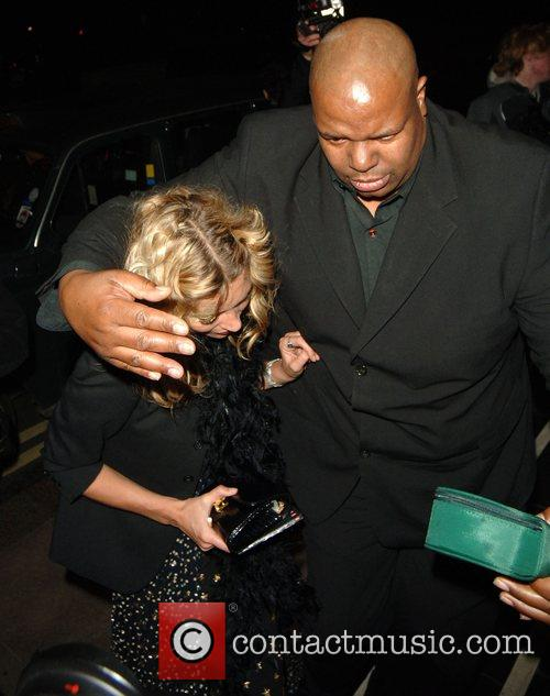 Kate Moss arrives back to the Dorchester hotel...