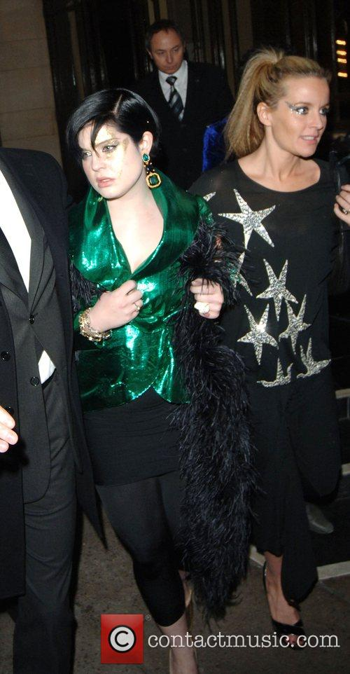 Kelly Osbourne and Davinia Taylor Leaving The Dorchester...