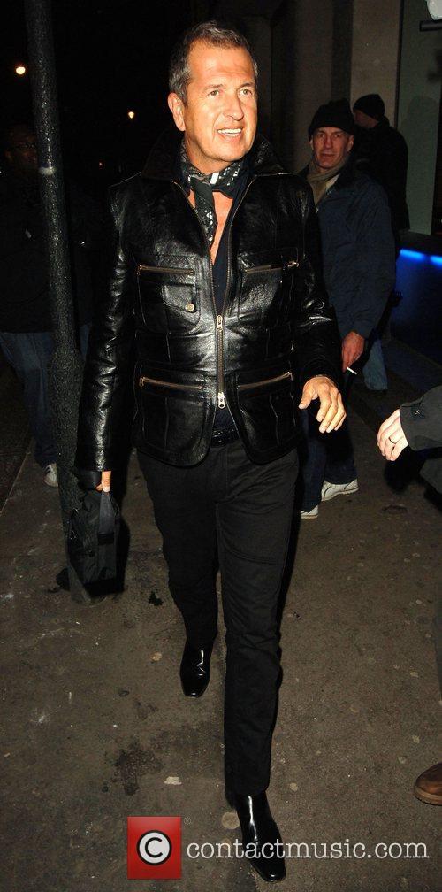 Mario Testino leaving the Punk nightclub  where...