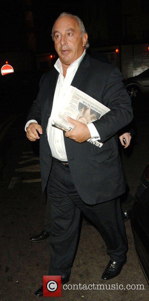 Philip Green arrives to The Dorchester hotel to...