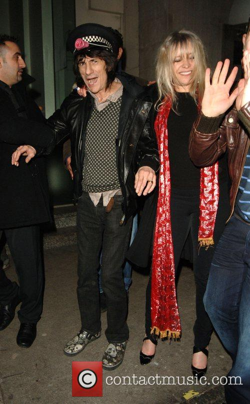 Ronnie Wood and Kate Moss 1