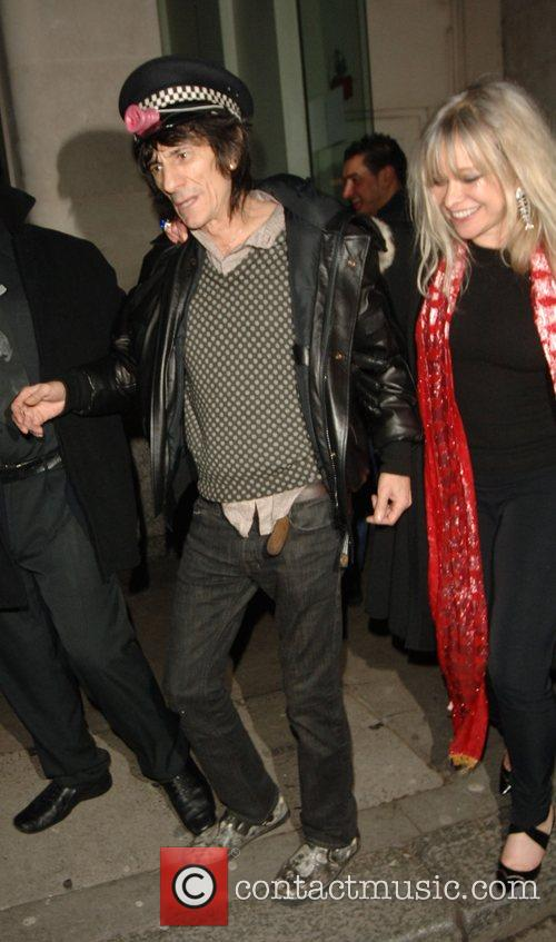 Ronnie Wood and Jo Wood leaving the Punk...
