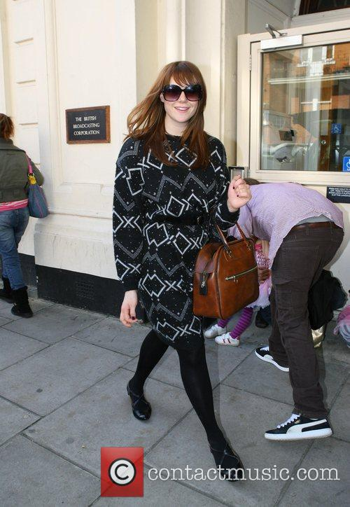 Kate Nash looking pleased with herself as she...