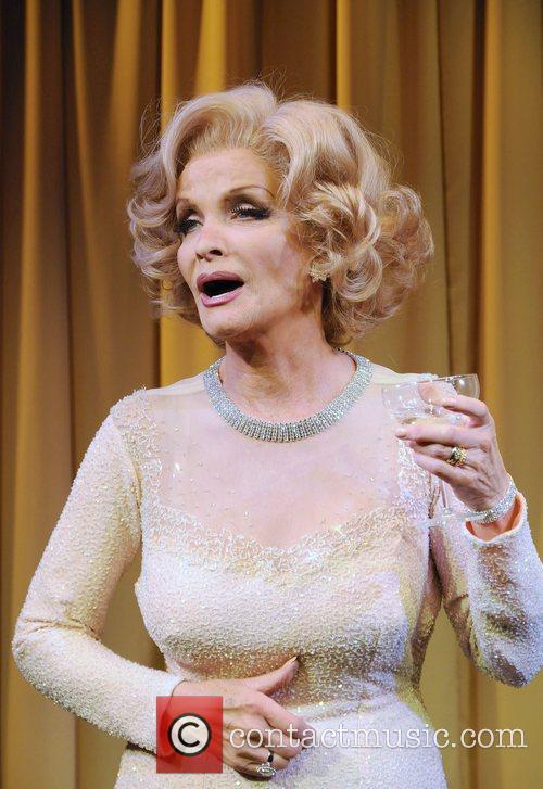 Kate O'Mara poses as Marlene Dietrich for a...