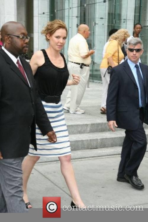 Katherine Heigl leaves CBS Studios after appearing on...