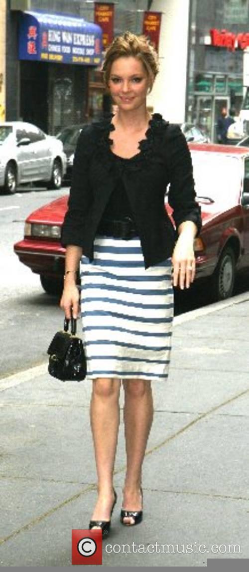 Katherine Heigl arrives at Rockefeller Center to appear...